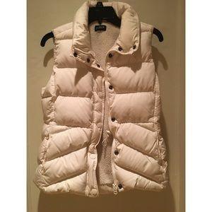 White Down Puffer Fleece Vest